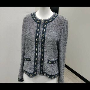 St.John Couture by Marie Gray Tweed Blazer Size 10